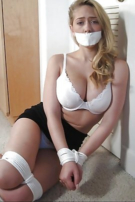 Sexy girl bound and gagged