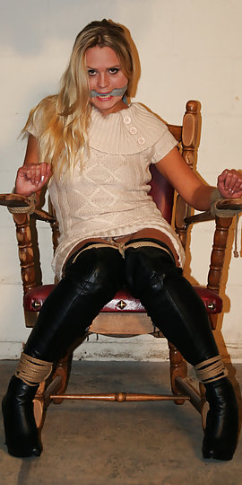 Too happens:) bound gagged leather and girls gags on