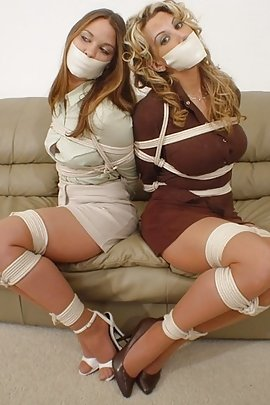 She Pictures women tied gagged pantyhose love