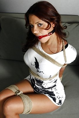 Beauty Roped And Ball Gagged
